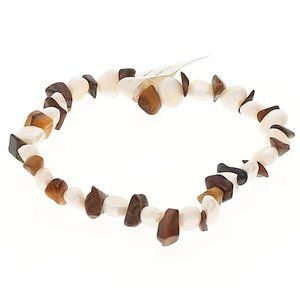 Set of 3 tiger eye faux pearl BEAD BRACELETS